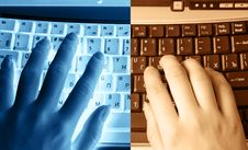 Free Human Hands Typing On The Keyboard Royalty Free Stock Photo - 4789785