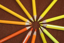 Free Stack Of Colored Pencils Stock Images - 4789954