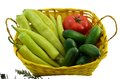 Free Green Peppers, Tomato And Cucumbers Isolated Royalty Free Stock Images - 47864179