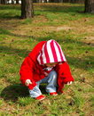 Free Little Girl In A Wood Stock Image - 4799341
