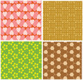 Free Four Different Seamless Pattern Royalty Free Stock Photography - 4799827