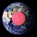 Free Earth With On/off Button Stock Images - 4799904