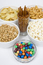 Free Chips Peanuts Popcorn Salted Sticks Royalty Free Stock Images - 4799989