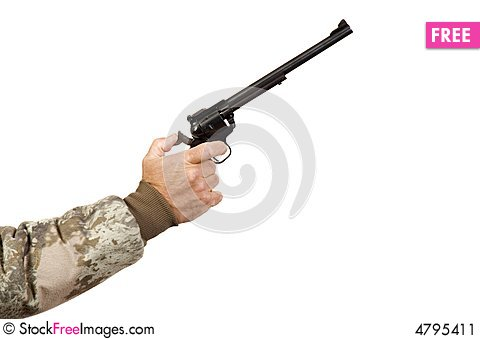 Free Single-action PIstol Shooter Isolated Stock Image - 4795411
