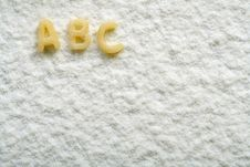 Free Eatable Alphabet On Flour, Education Stock Photos - 4790373