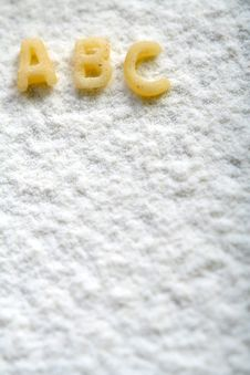 Free Eatable Alphabet On Flour, Education Royalty Free Stock Photo - 4790455