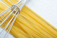 Free Wire Whisk And Spaghetti On Flour Royalty Free Stock Photo - 4790475