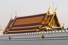 Free Wat Phra Kaeo Temple, Bangkok, Thailand. Stock Photo - 4790750