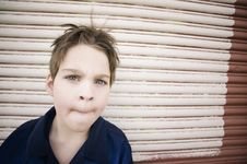 Free Boy Making A Curious Face Stock Photography - 4792322