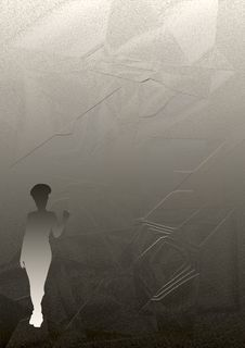 Free Female Silhouette Against Anthracite Background Royalty Free Stock Photos - 4792578