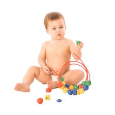 Free Boy With Multicolored Cubes Stock Photos - 4792883