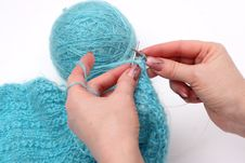 Free Knitting A Pullover Stock Photography - 4793082