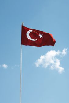 Free Turkish Flag Stock Photo - 4793190