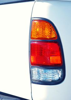 Free White Truck Tail Light Royalty Free Stock Photos - 4793418