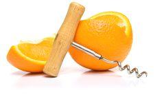 Free Orange And Steel Corkscrew Stock Image - 4793471