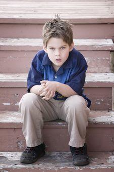Free Grumpy Boy Stock Photography - 4793682