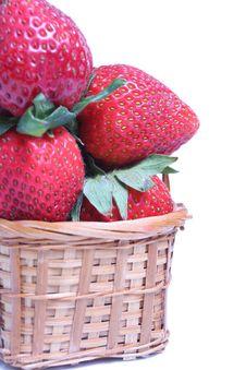Basket Of Strawberries Stock Image