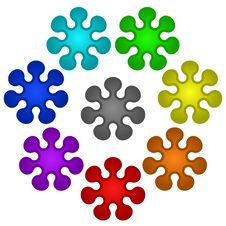 Free Colorful Flower Buttons Stock Photography - 4793922