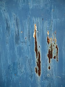 Free Corroded Blue Paint Background Stock Photography - 4793962