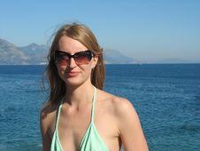Girl At The Sea Royalty Free Stock Photos