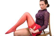 Free Woman Wearing Red Sockings Royalty Free Stock Photo - 4794465