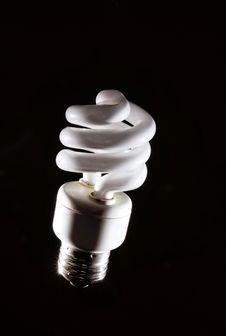 Free Cfl Lightbulb Light On Black Royalty Free Stock Image - 4794676