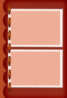 Free Leather Pictures Border With Decorative Ribbon Stock Photos - 4795403