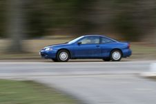 Panning Shot Of Car That Needs Royalty Free Stock Images