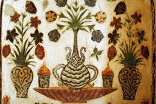 Free India, Agra: Old Fresco In A Mausoleum Royalty Free Stock Photos - 4795438