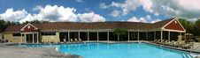Free Panoramic Pool View Stock Image - 4795461