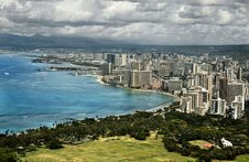 Free View Of Waikiki Royalty Free Stock Photo - 4795925