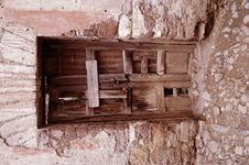 Interior Of Old Large House At Real De Catorce Stock Images