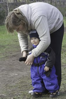 Free Mother With Little Son Stock Photography - 4796592