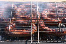 Barbecue Sausage Royalty Free Stock Photos