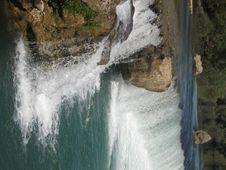 Free Waterfall In Turkey, Region Of Aspendos. Royalty Free Stock Photography - 4797567
