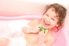 Free Small Girl In Bath Stock Photo - 4798240