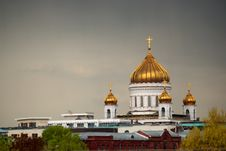 The Temple Of The Christ The Savior In Moscow Stock Photo