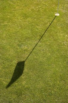 Free Shadow Of A Golf Flag Stock Photos - 4798673