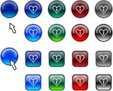 Free Love Buttons. Royalty Free Stock Photography - 4798797
