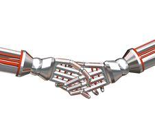 Free Cybog Hand Shake Stock Photos - 4799073