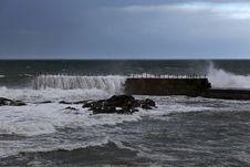 Free Stormy Pier Royalty Free Stock Photo - 47905835