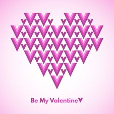 Be My Valentine Vector Greeting Card. Royalty Free Stock Images