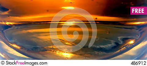 Abstract sunset Stock Photo