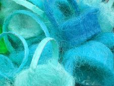 Free Blue Baskets Royalty Free Stock Photo - 480385