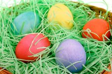 Free Easter Basket Background Royalty Free Stock Photo - 482145