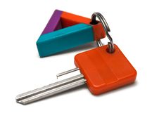 Free Single Key W/ Colorful Tag Royalty Free Stock Photos - 482308
