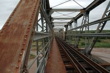 Free Old Rusty Train Bridge Royalty Free Stock Photo - 483765