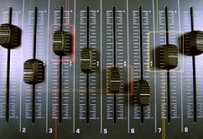 Free Audio Faders Royalty Free Stock Photography - 484027