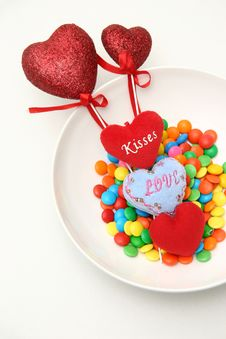 Sweets & Hearts Royalty Free Stock Photography