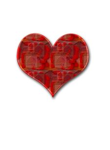 Red Rosy Heart Royalty Free Stock Photo